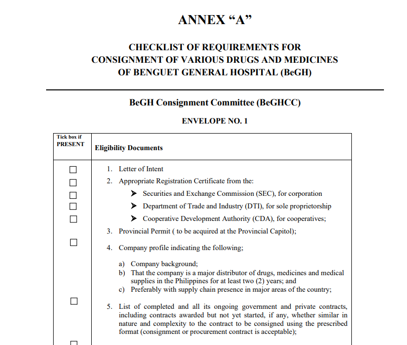 Annex A Consignment for CR 2019-09-007 & CR 2019-09-008