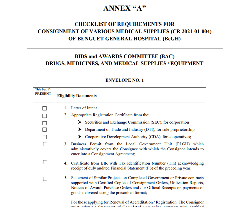 Annex A Consignment for CR 2021-01-004