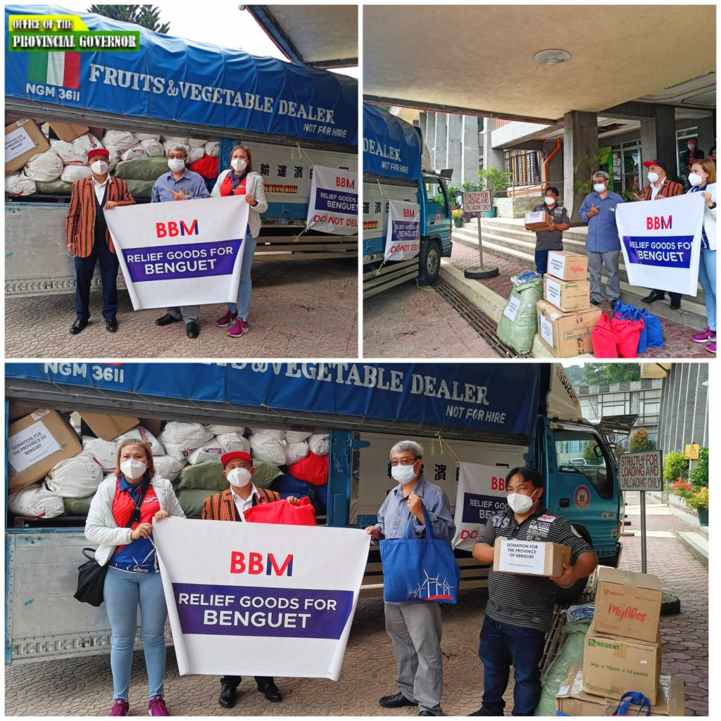 October 15, 2021 - BBM Donates Food Packs, Other Basic Necessities for Benguet